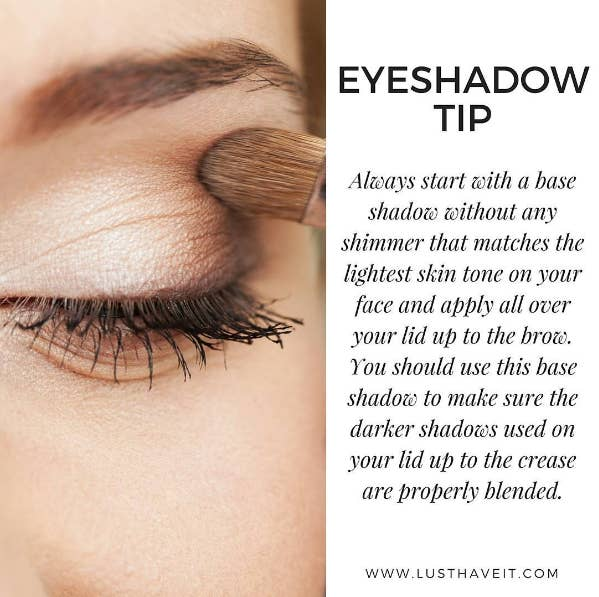 Add a neutral or white base to your lids to intensify your eyeshadow and also to make it last longer.