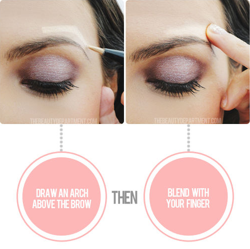 Similarly, give your eyes a lift by applying illuminator just above the brow.