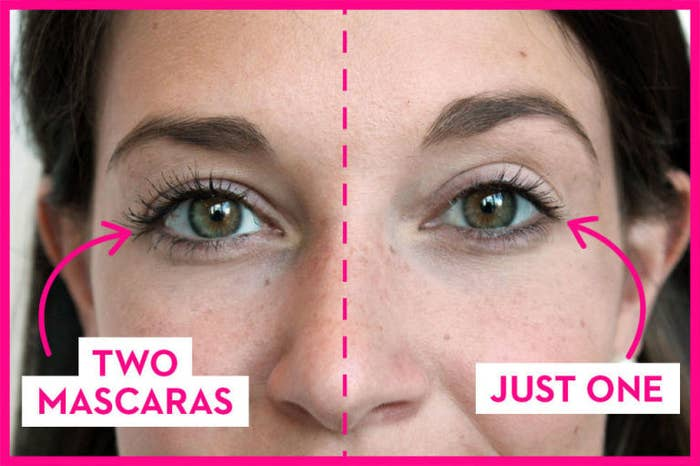 14. Apply two coats of mascara, but make sure the first coat dries before applying the second.