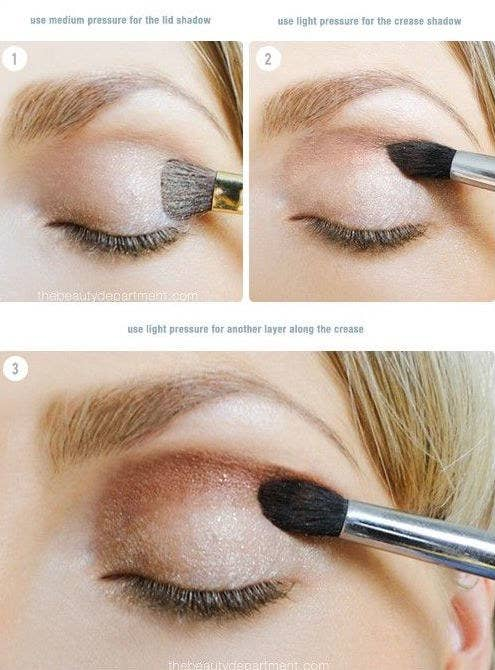 21 eye makeup tips beginners secretly want to know use your shadow brushes with medium pressure to your lid and light pressure to your crease ccuart Gallery