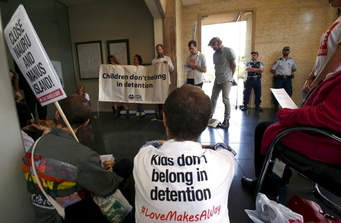 Protesters occupy Australian prime minister Malcolm Turnbull's electoral office, demanding the end to the policy of offshore detention of asylum-seekers.