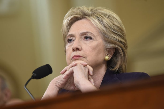 Clinton testifies before the House Select Committee on Benghazi in 2015.