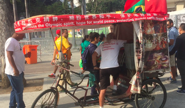 "Meet Chen Guanming, a 60-year-old Chinese farmer who pedalled his rickshaw all the way from China to Rio. He calls himself ""Olympic madman,"" and surely he deserves it: this is the third Olympic Games he rode to."