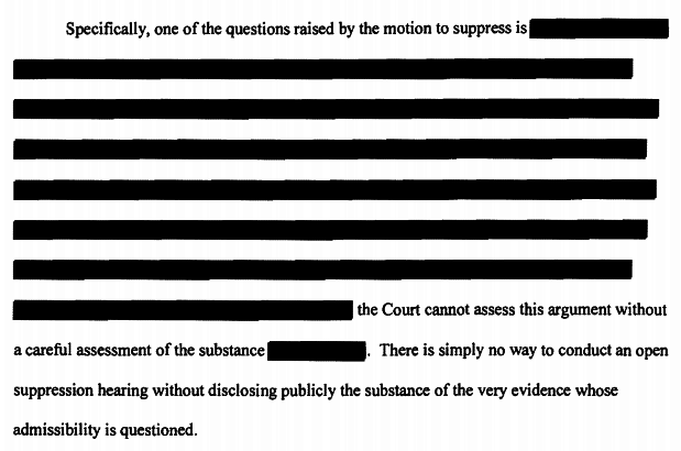 Discussion of the evidence that Dylann Roof wants to keep out of court is redacted in a court filing.