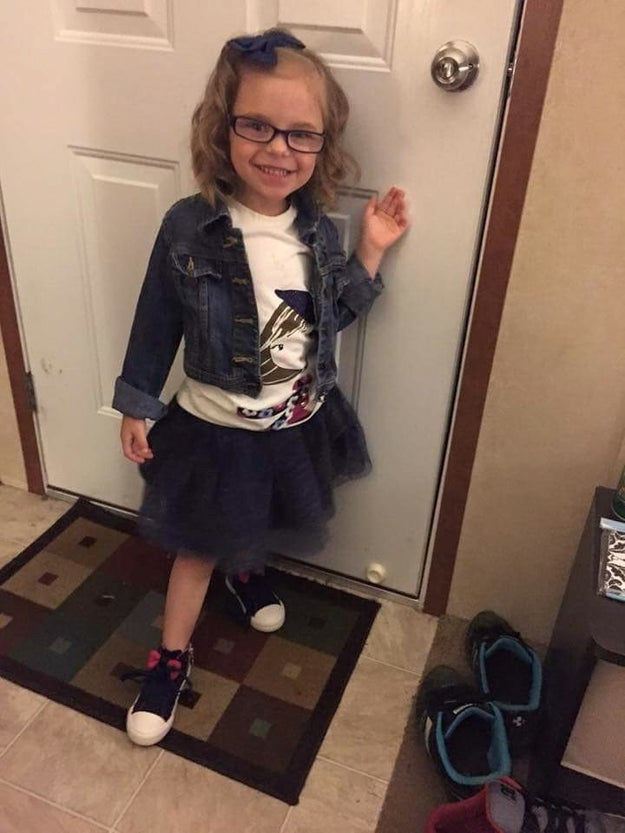 ICYMI, here's 5-year-old Meyer, dressed to the nines and with the smile of someone who loves the magical playland that is preschool, in the morning.
