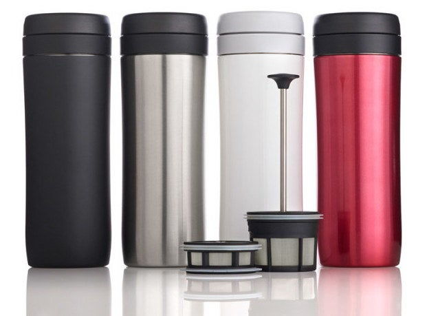 """""""I'm a graduate student and drink at least two cups of coffee a day. I have an Espro travel press (it's a travel French press!) and it's AMAZING. Instead of using K-cups, I just bring a jar of my ground coffee and sugar mixed together, add a few spoonfuls to the bottom, add hot water, let it brew, and then press. The coffee is so good and each cup feels like a luxury. It was worth every penny."""" —Tricia Goldberg, FacebookPrice: $29"""