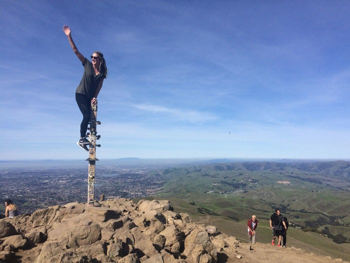 Kristin Tinsley of iBeat hiking on a day off.