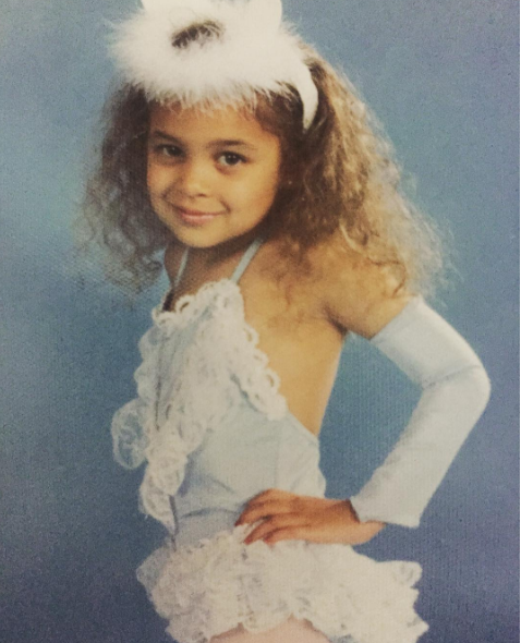 Nicole Richie shared this adorable childhood photo of herself dressed up as a dancer.