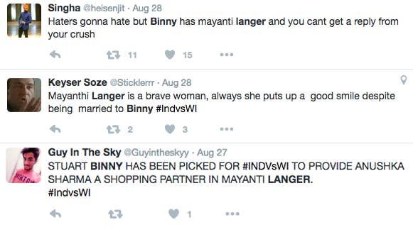 Their marriage has become somewhat of a meme on the internet, with jokes being made about how Langer is too good for Binny.