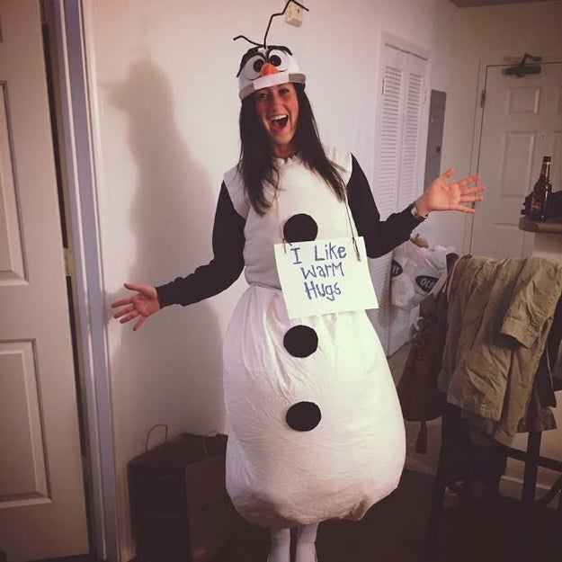 This homemade Olaf from Frozen: