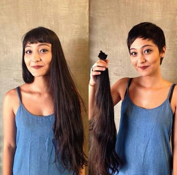 18 incredible hair makeovers thatll make you want to get a haircut 1 this woman who took it all off winobraniefo Choice Image