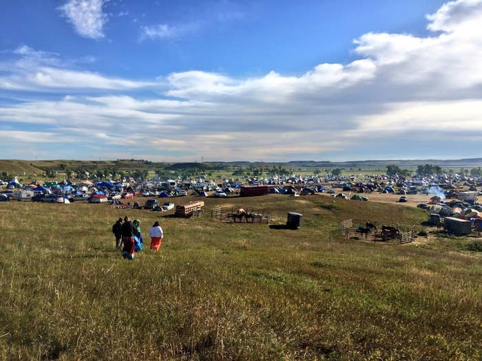 Sacred Stone Camp outside of Cannon Ball, North Dakota.