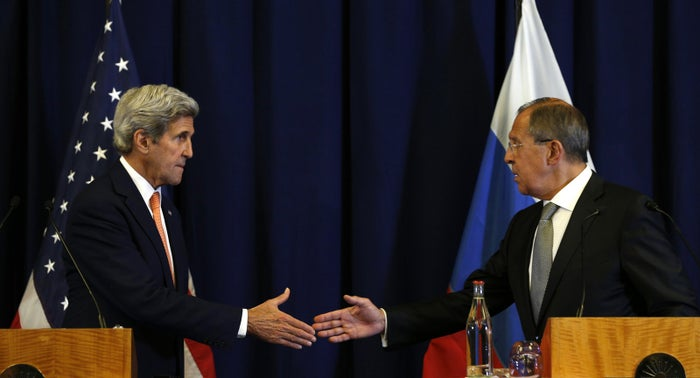 US Secretary of State John Kerry and Russian Foreign Minister Sergey Lavrov.
