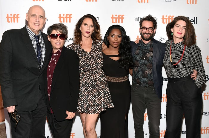 Transparent's Jeffrey Tambor, creator/writer Jill Soloway, Amy Landecker, Alexandra Grey, Jay Duplass, and Gaby Hoffmann attend the Transparent Season 3 premiere during the 2016 Toronto International Film Festival.