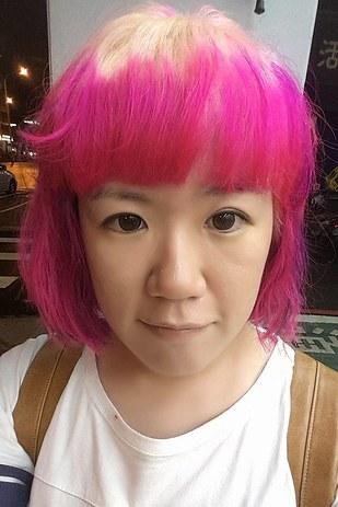 Hair dyed black girl feeds herself a black schlong - 2 part 3
