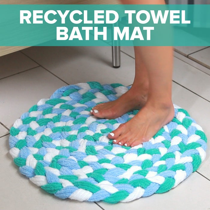 Turn Old Towels Into A Soft Sophisticated Bath Mat