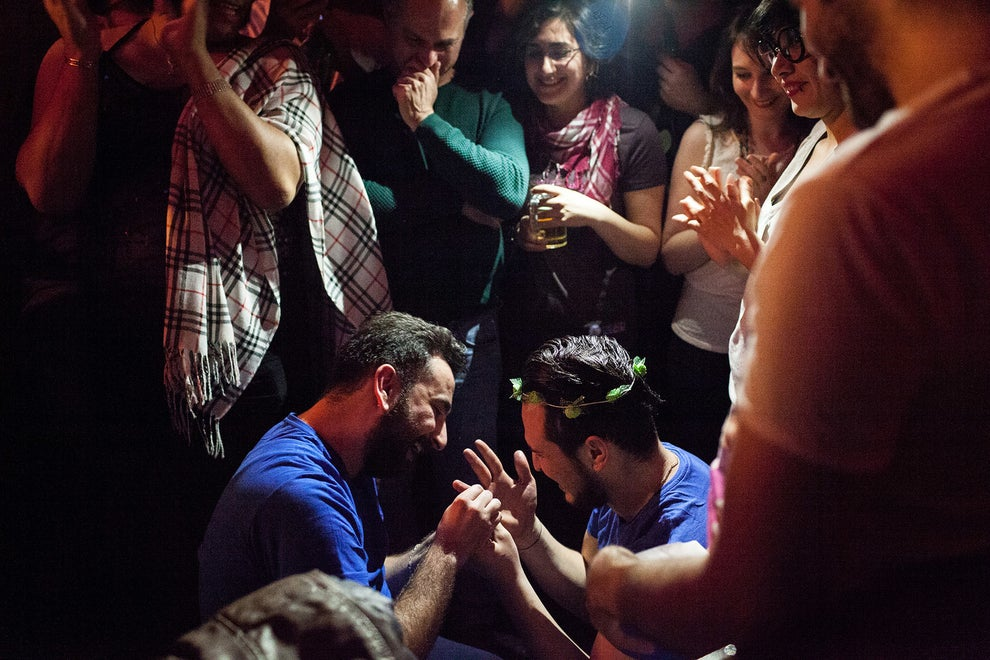 During Omar's birthday party in Istanbul, Nader places a ring on Omar's finger after accepting Nader's marriage proposal.