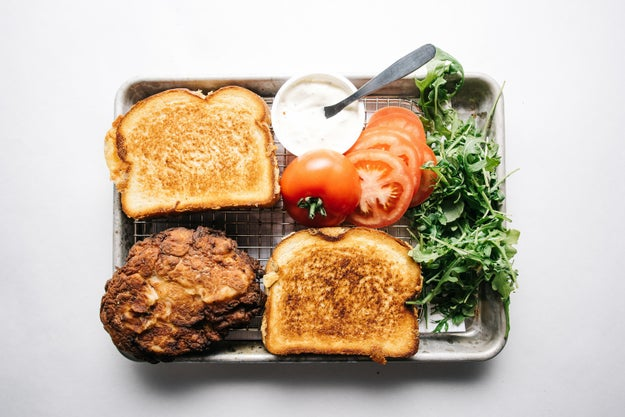 Fried Chicken Grilled Cheese