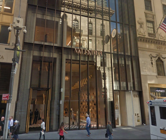 The Valentino store on Fifth Avenue in Manhattan.