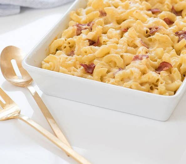 Um, so, this recipe only uses one package of (gluten-free) noodles to six cups of cheese. Also, according to Kourtney the cheese must be organic, or a dairy-free substitute. Get the recipe here.