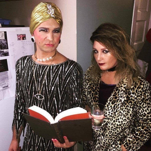 Liz Taylor and Hypodermic Sally from American Horror Story: Hotel