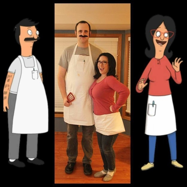 Bob and Linda Belcher from Bob's Burgers