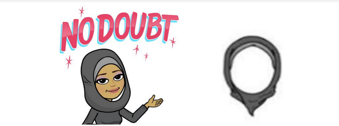 Other third-party mobile sticker companies like Bitmoji have added hijabs.
