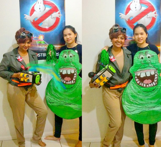 A Ghostbuster and Slimer