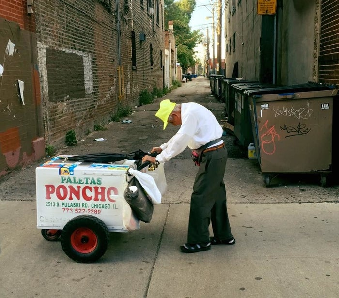 """The picture was taken by Joel Cervantes Macias, who told BuzzFeed News he was struck by the sight of the elderly man struggling to push his cart down the street.""""Everyone [was] walking past him like he wasn't there,"""" he said.Macias pulled over and bought some paletas from him, then shared the photo on his Facebook page. The response was immediate, and it soon led to a crowdfunding campaign to raise $3,000 to """"give him a day off"""" from work. The GoFundMe page currently stands at about $325,000, and it's still climbing. """"It was shocking how amazing the response was,"""" Macias said."""