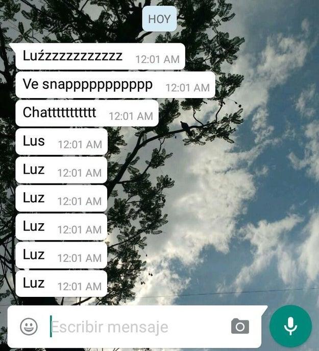 No, no me llamo Luciérnaga, ni Lucifer, me llamo LUZ.