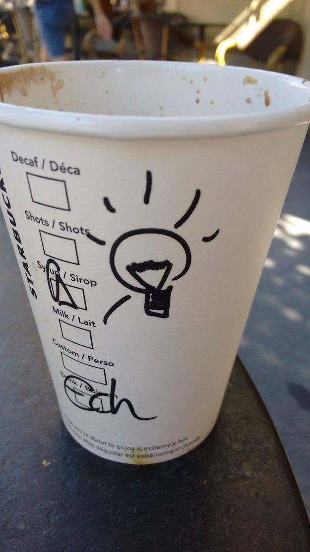 A veces, ni los de Starbucks te respetan.