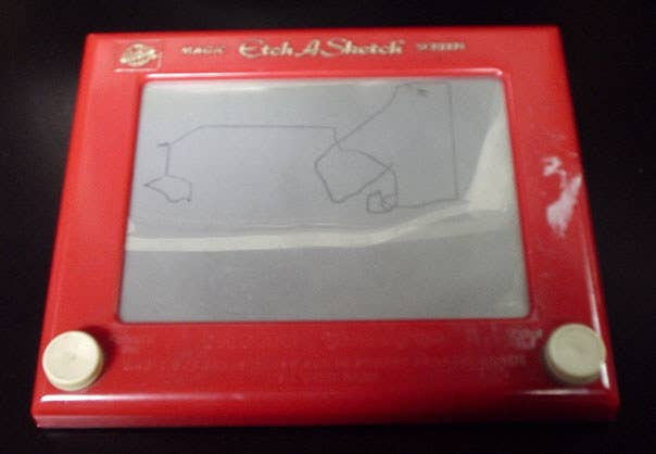 We've all seen those professional drawings on an Etch A Sketch that looks like one of Van Gogh's masterpieces, but that's never the scenario. Have you ever tried to sketch a circle, but ended up as an octagon? What about when you tried to draw a house and you accidentally dropped the sketch and the whole picture erased? Just toss it in the trash!
