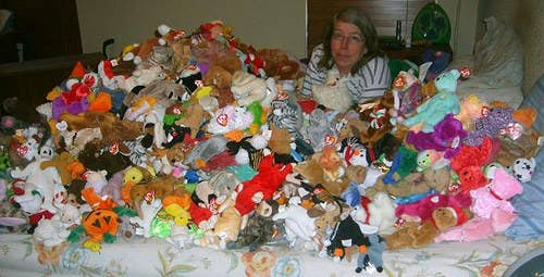You may ask yourself why Beanie Babies are the devil... Well... Remember when you had that one Beanie Baby that was split open, and just like a game of bags, you saw all the tiny beads spilling out? This toy is not only a terrible nightmare for your mom, but also your vacuum. Just throw it in the trash!