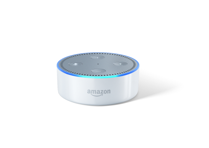 """The Dot has a small built-in speaker, but its major advantage over the Echo is that you can connect the Dot to your high-quality home stereo system through a 3.5mm audio cable or a Bluetooth speaker (wireless headphones work, too). The Amazon Echo can only play audio through its built-in speaker. Those without a home audio system should opt for the Echo. The small, hockey puck-shaped gadget is powered by Amazon's voice-activated personal assistant Alexa. You can ask the Dot questions like, """"Alexa, what's the weather like today?"""" or """"What's in the news?"""" Alexa also works with over 3,000 different apps (Amazon calls them """"skills"""") and responds to hundreds of different commands. With its competition Google Home launching later this year, Amazon appears to be beefing up its hands-free speaker offerings. The second generation Echo Dot is slated for an Oct. 20 ship date – and here's everything you need to know about it."""