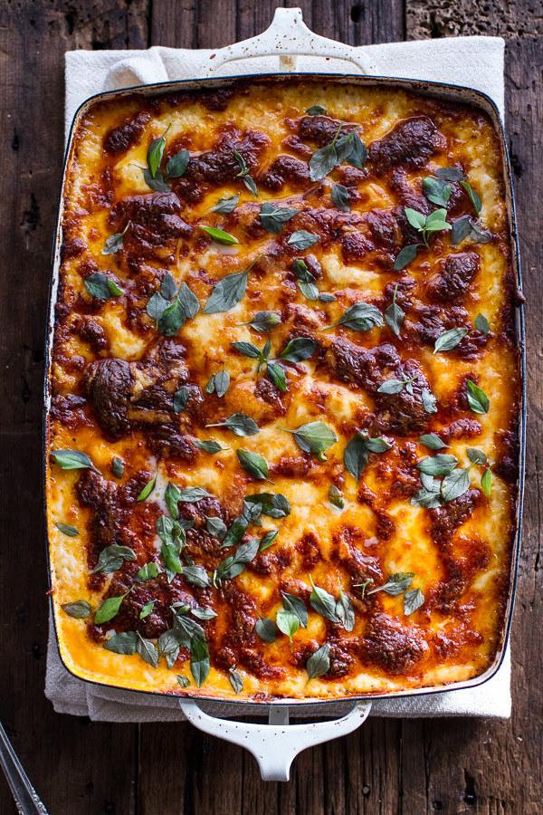 Italian Quinoa Risotto Lasagna With Truffle Oil