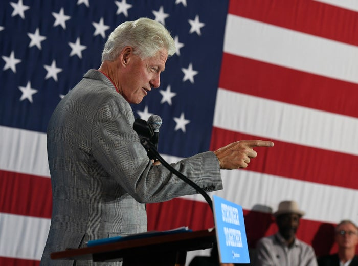 Bill Clinton at a campaign event Wednesday in North Las Vegas, Nevada.