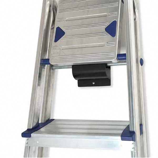 This ladder and wheelbarrow hook will safely keep supersize work tools out of the way.