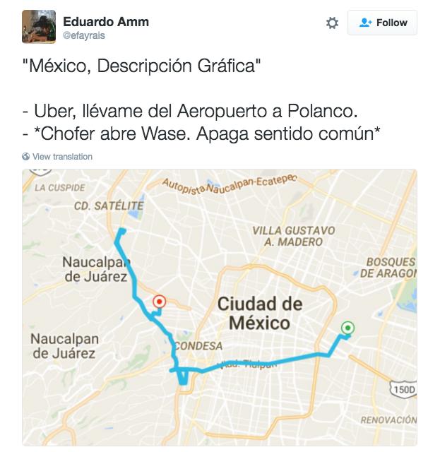 Sabes cuando un chofer de Uber era taxista por su forma de manejar...