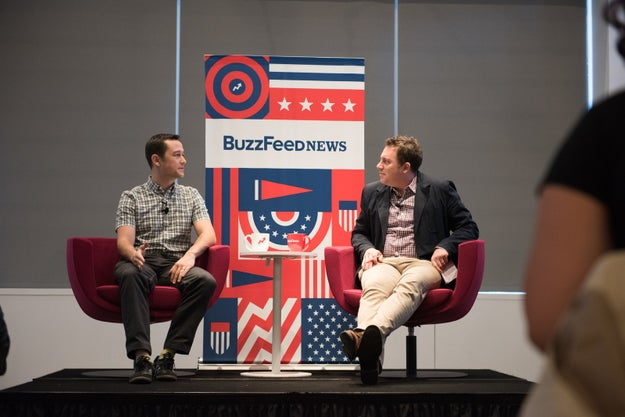 Joseph Gordon-Levitt, who plays the lead character in the new Oliver Stone film Snowden, stopped by BuzzFeed's NYC office for a Breakfast at BuzzFeed interview with editor-in-chief, Ben Smith.