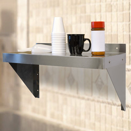 This stainless-steel work shelf can hang solo or with friends to hold coffee cups, soap, and more essentials.