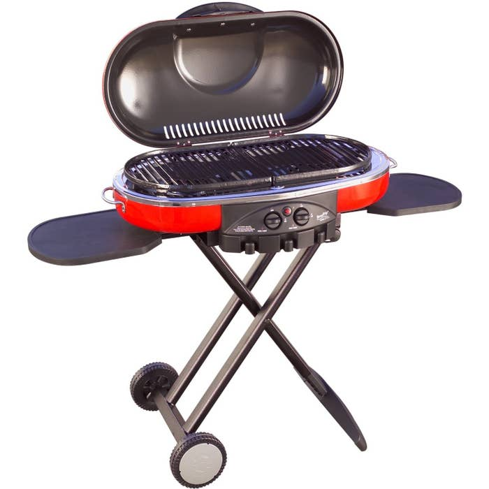This nifty grill is perfect if you don't have a truck or just don't want to lug a massive grill and charcoal to your tailgate.