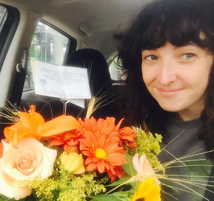 """""""Who would be so bold?"""" Grady said she wondered. She drove over to pick them up and could not believe it: Tonya had sent her flowers. To her ex's house. In a sealed card."""