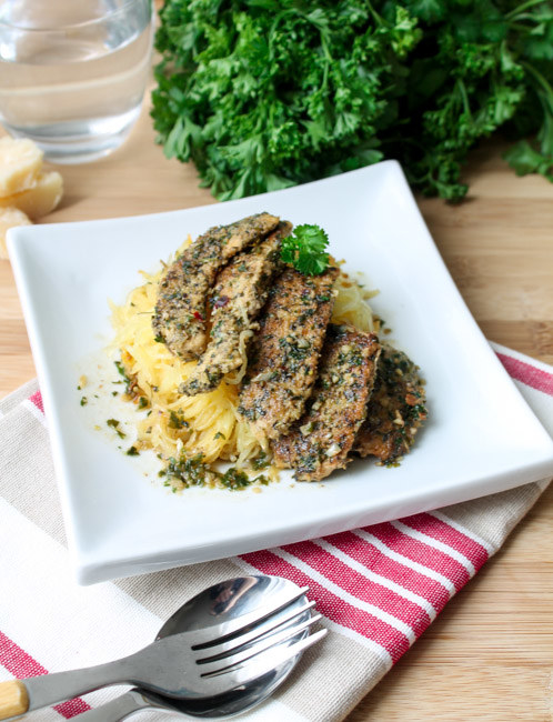 Gluten-Free Chicken Scampi With Spaghetti Squash