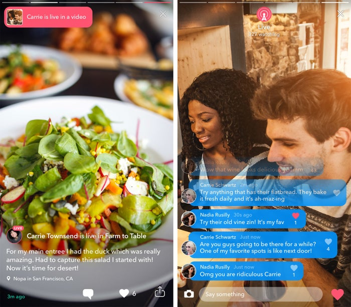 Instead of looking through static food photos for dinner inspiration, scroll through daily live videos from food bloggers and award-winning chefs. And unlike your favorite food channel, you can even read tips from fellow eaters and chime in with your own.