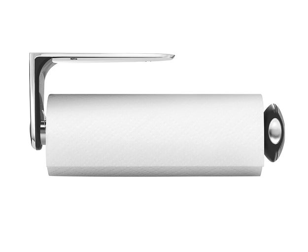 This paper towel holder will keep a new roll fresh and clean.