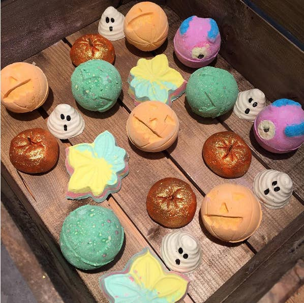 It's bath bombs, melts, bubble bars, and more fall faves. They launch a collection every year for Halloween, but this one is SO damn good.