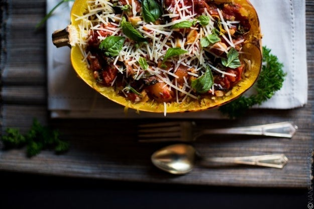 14. Spaghetti Squash With Butter Roasted Tomatoes and Fresh Herbs