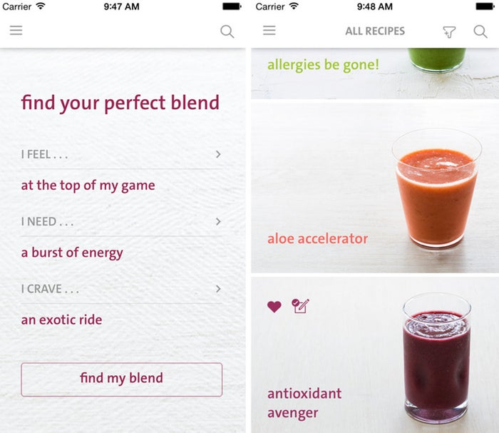 You don't have to base every smoothie on bananas or kale, and Blender Girl will teach you all the alternatives. Just plug in your need, mood, and craving, and this app will look through Blender Girl's 100 best smoothie recipes to find the ideal blend for you.