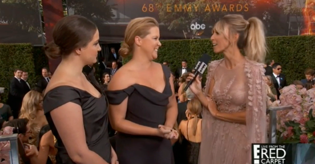 Emmy nominee Amy Schumer graced the red carpet on Sunday night with her beautiful presence.