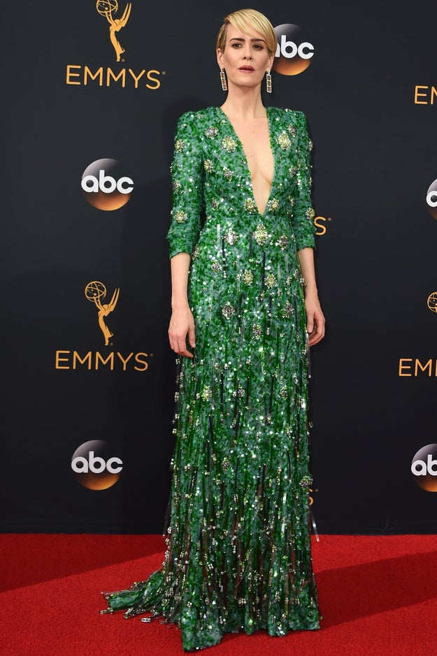 El Prada verde de Sarah Paulson.